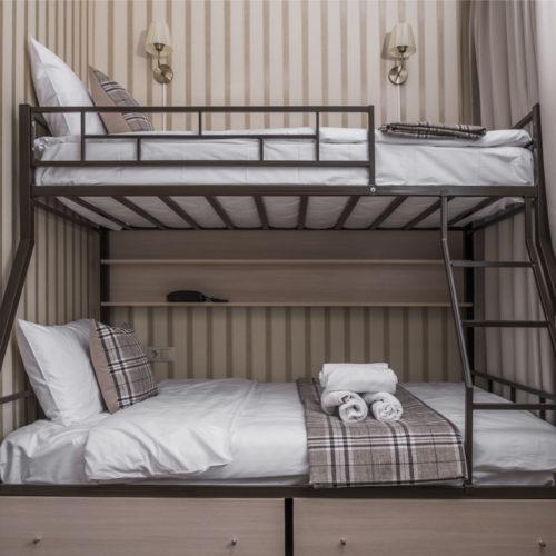 Двухместный номер с двухярусной кроватью